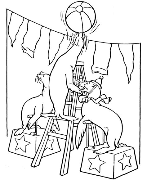 Circus Animal Coloring Pages free printable circus coloring pages for