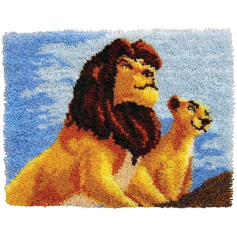 disney latch hook rug kits latch hook kit 27 quot x 20 quot the king walmart