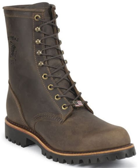 mens boots made in america mens chippewa classic lace up boot made in usa brown 20085