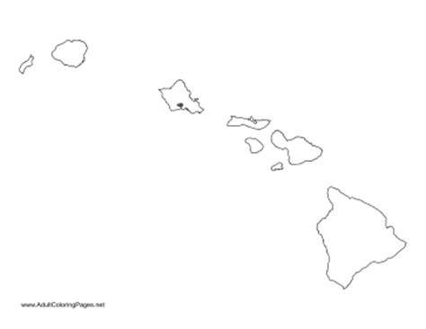 coloring page map of hawaii hawaii coloring page