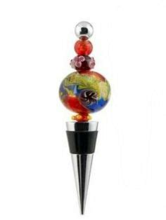 Wine Bottle Ls by Glass Wine Bottle Stopper Lid Fish In Bag By Ls Arts 12 58 Beautiful Sculpted