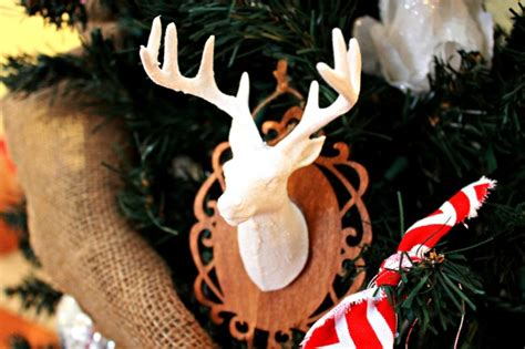 christmas decorations with deer head pic deer ornament day 8 of 12 days of ornaments 4 real