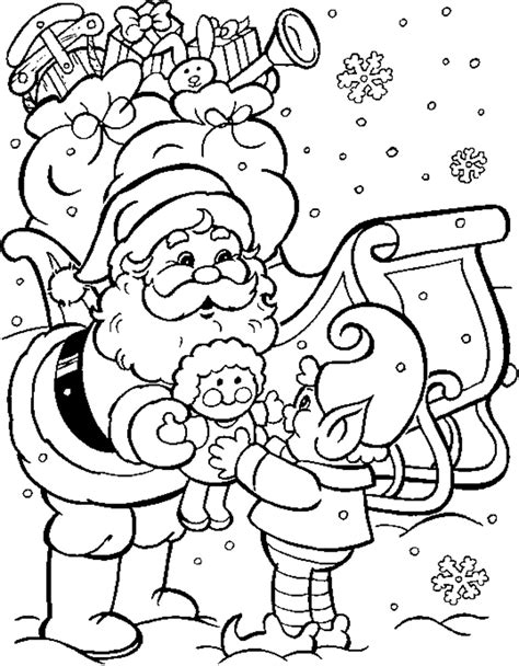 coloring page father christmas santas coloring pages
