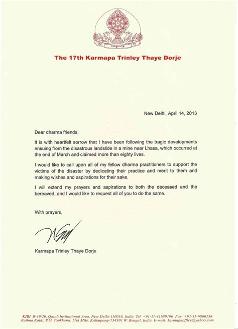 Closing Bereavement Letter How To Write Condolence Letter Exles Cover Letter Templates
