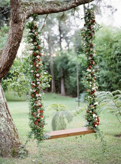 35 Eye Catchy Swing Ideas For Outdoor Weddings   Weddingomania