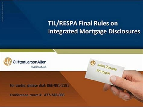 respa section 6 til respa final rule on integrated mortgage disclosures