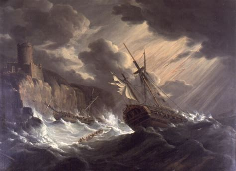 schip in storm old sailing ship in storm