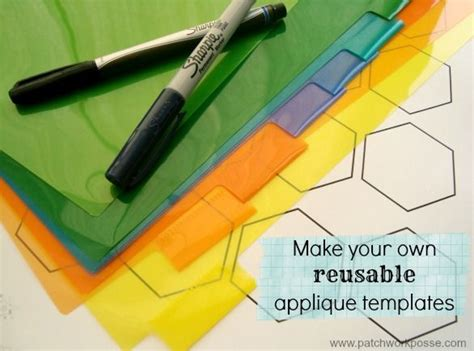 how to make your own plastic hexagon template paper