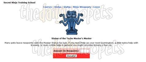 secret ninja training school the daily neopets - Techo Master Statue
