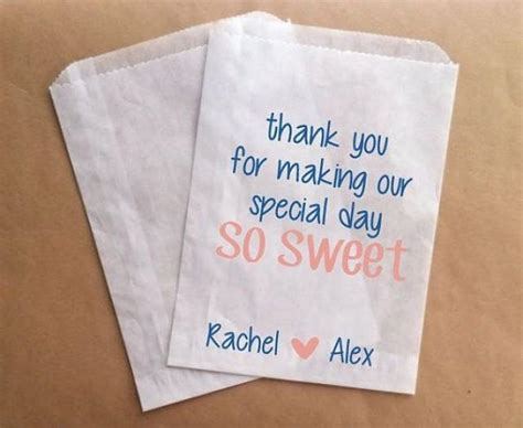 custom candy buffet bags candy bags for wedding sweet