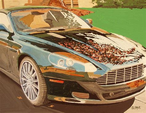 Aston Martin Sacramento Gold River Aston Martin Painting By Paul Guyer