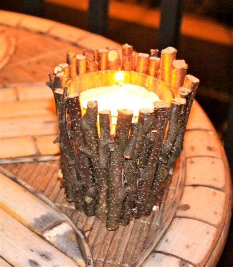 Diy Twig Candle Holder Centerpiece Inspirations Pinterest Twig Candle Holder Centerpiece