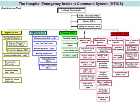 Developing A Hospital Emergency Incident Command System Heics Everbridge Incident Command System Chart Template
