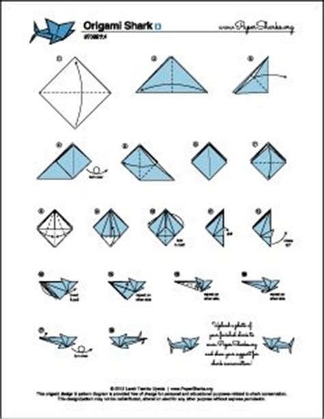 How To Make A Paper Shark Step By Step - the world s catalog of ideas