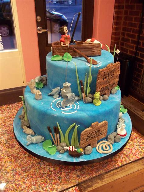 fishing boat cake decorations fishing cake sugar row boat fish lures etc ideas of