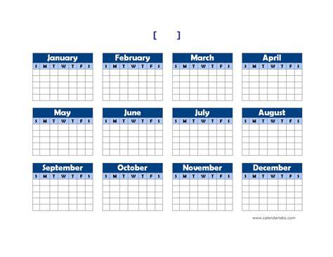 landscape calendar template yearly blank calendar landscape free printable templates