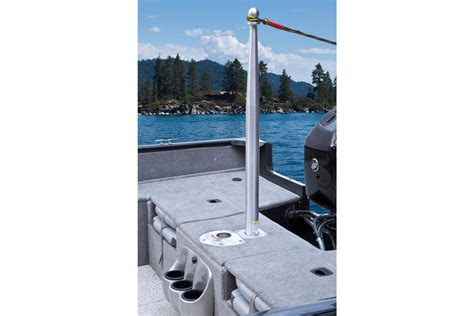 ski boat pole extension tracker marine s new fish and ski combo boat gt rocky