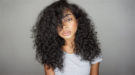 curly bangs on 3b hair type updated simple big curly hair routine 2016 3a 3b youtube