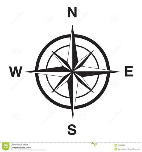 black compass compass silhouette in black stock vector image 29905265