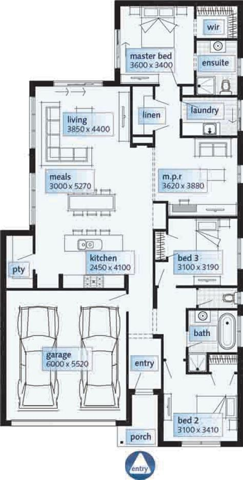 single storey floor plans single story homes floor plans australia house design ideas