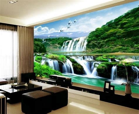bedroom 3d wallpaper 3d wallpaper bedroom mural roll landscape waterfall modern
