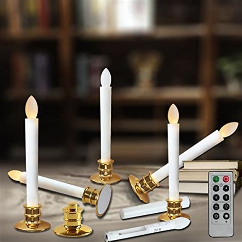electric flickering candle lights window candles with remote timers battery operated