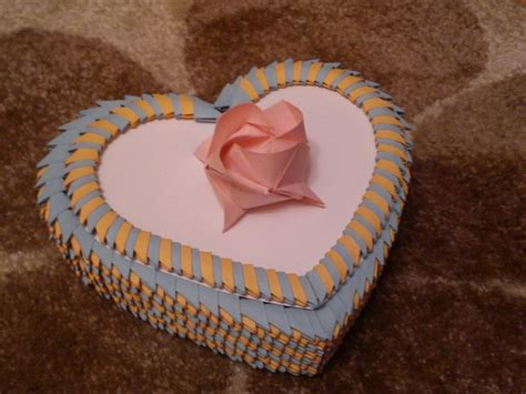 tutorial origami heart box how to make 3d origami heart jewellery storage box step by