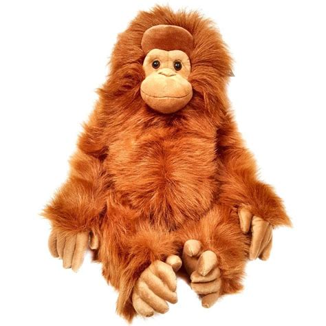 large 85cm orangutan soft toy stuffed animal monkey