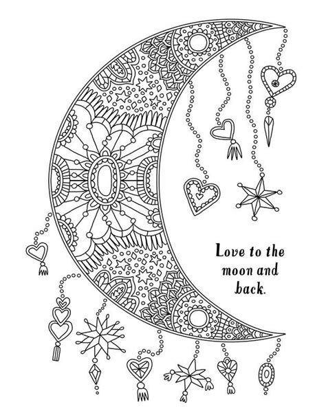 coloring pages for adults moon 17 best images about coloriage astre on pinterest