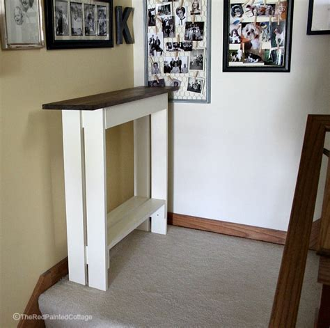 diy entryconsole table  red painted cottage