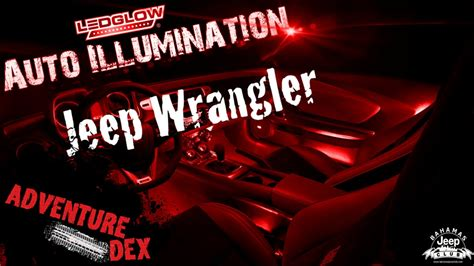 led lights for jeep wrangler interior jeep wrangler interior neon lights ledglow interior kit