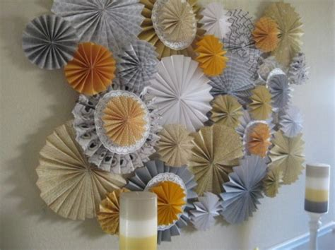 How To Make Paper Wheel Decorations - diy how to make a backdrop out of paper rosettes catch