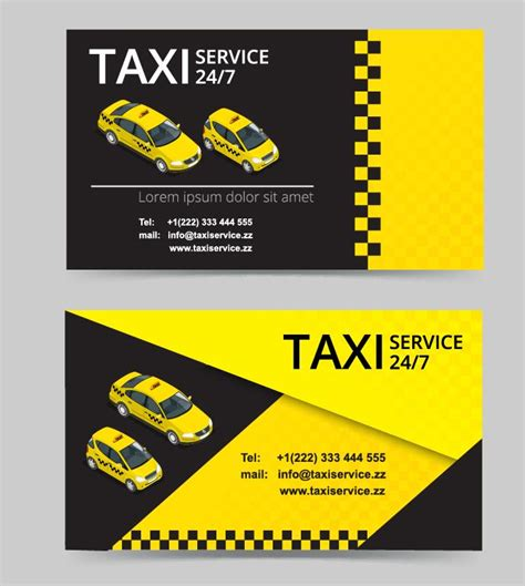 taxi business cards templates free taxi service business card template vector free