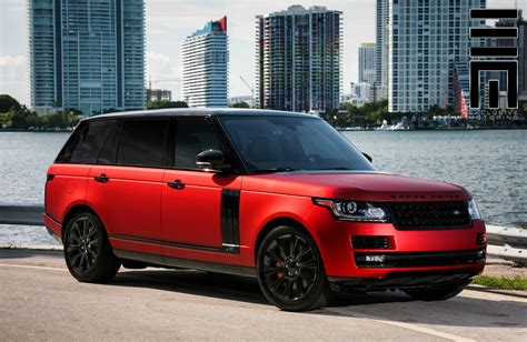 range rover modified red red matte range rover on black wheels by exclusive