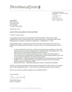 Pwc Cover Letter by Pricewaterhousecoopers Reference Letter