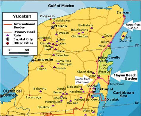 yucatan peninsula map guide mexico tours