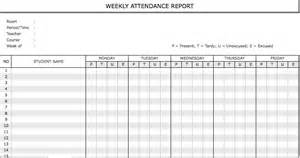 weekly attendance register template weekly staff attendance sheet template employee template