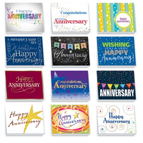 Assorted Birthday Cards For Employees Anniversary Cards Assortment With Personalized Workplace