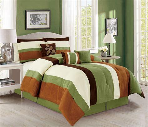 kinglinen comforter sets 7 piece stripe micro suede comforter set ebay