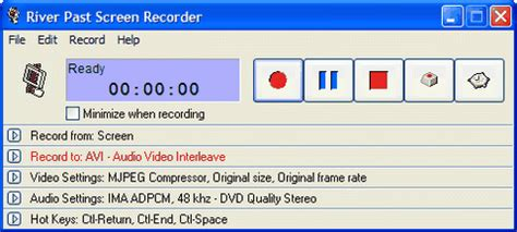download river past screen recorder 7.8 (free) for windows