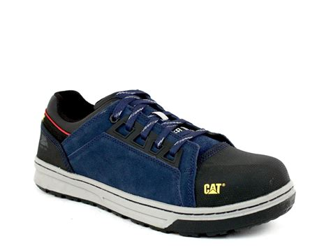Azcost Hiker Safety Suede Mercy Leather Navy caterpillar concave lo st steel toe s navy leather suede shoes shoevariety