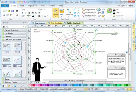 chart creation software spider diagram free templates and exles