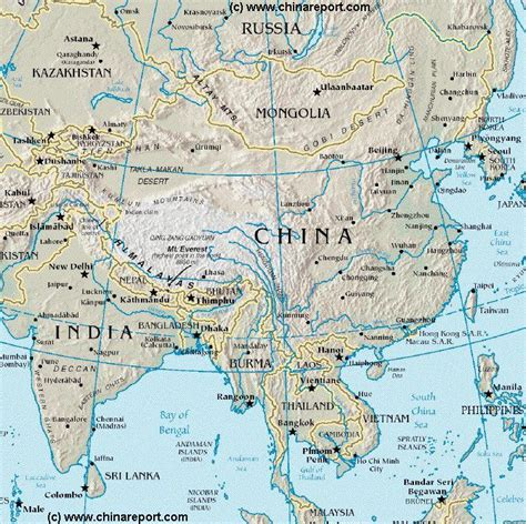 east asia physical map map china overview map china bordering nations of