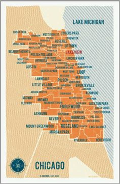 chicago map poster 1000 images about atlanta map on maps
