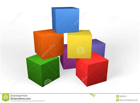 3d Plan by Colourful 3d Building Blocks Stock Photos Image 32000123