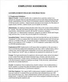 handbook template free sle employee handbook 9 documents in pdf