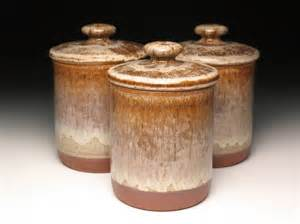 Pottery Canisters Kitchen Kitchen Canister Set Pottery