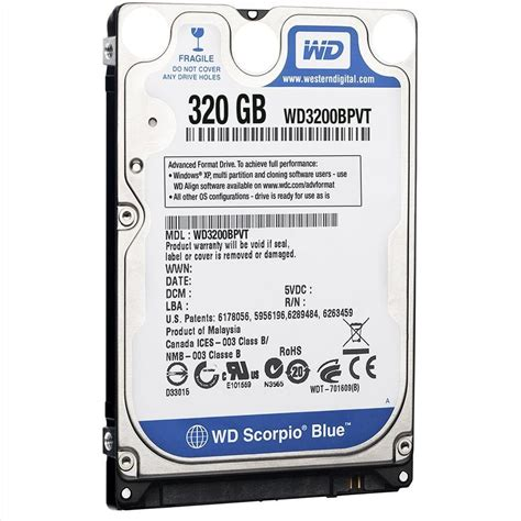 Hardisk Laptop Wd Scorpio Blue 500gb western digital scorpio blue sata 320gb 500gb 1tb 2 5