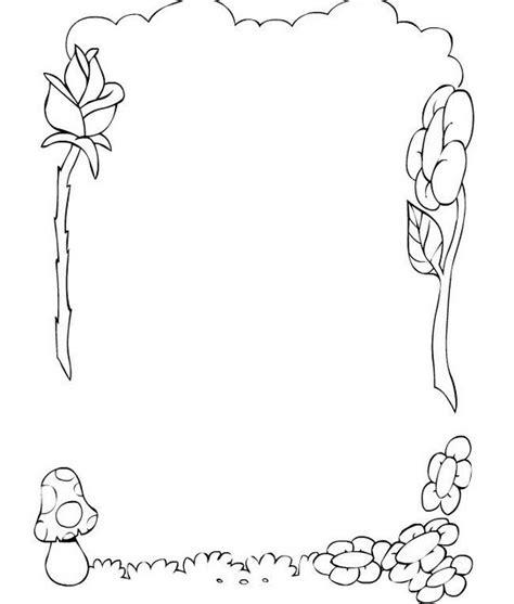 colorea tus dibujos maestras para colorear colorea tus dibujos borde de flores rosa y hongo para