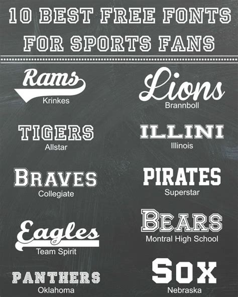 10 best free fonts for sports fans inspiration